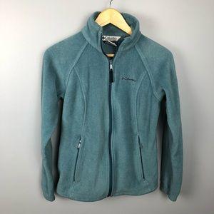 Columbia Blue Zip Up Fleece Jacket